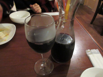 赤ワインにチェンジ