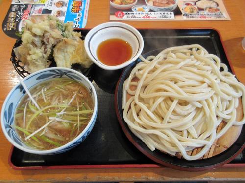 つけ汁うどんとのどぐろ天ぷら定食