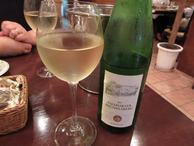 いつもの白ワインで乾杯