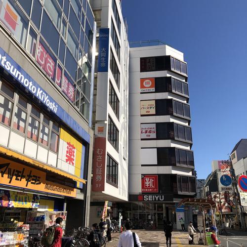 久米川駅南口にある「西友」