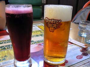 オーガニック生ビールとベルギーチェリー発泡酒