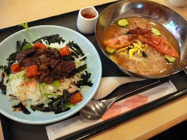 期間限定の「冷麺と焼肉丼膳」