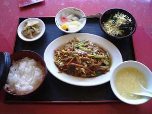 豚肉細切り味噌炒め定食