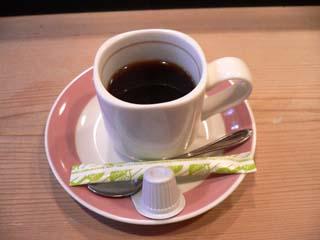 食後にはコーヒーも