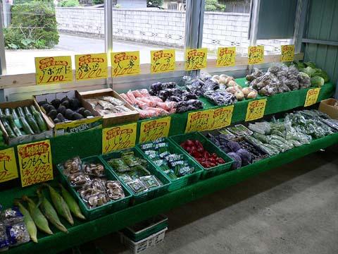 店内の野菜