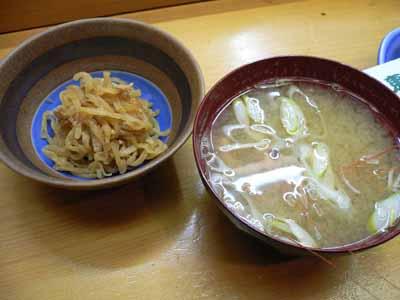小鉢と味噌汁