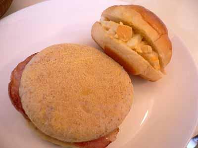 マフィンと玉子サンド