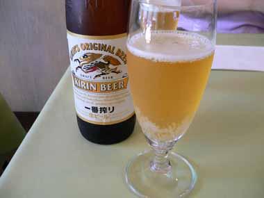暑かったのでビールで乾杯