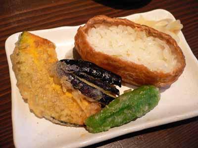 天ぷらといなり寿司