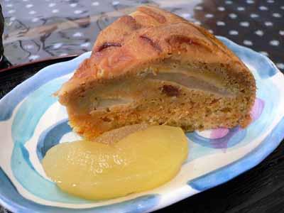 ニンジンとリンゴのケーキ