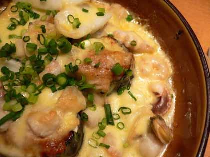海鮮茄子味噌チーズ焼きのアップ