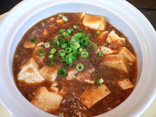 マーボー豆腐のアップ