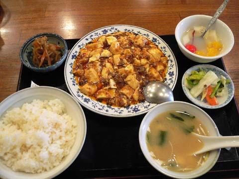 マーボ豆腐定食