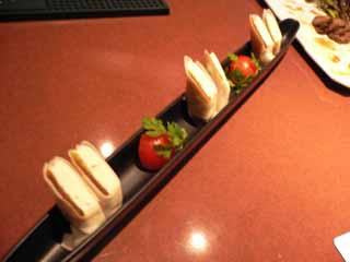 クリームチーズの奈良漬け巻