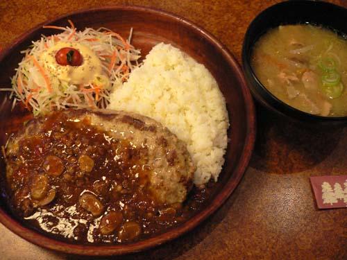 四川風マーボバーグディッシュと豚汁