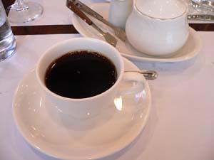 コーヒーでコース終了