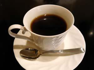 食後にコーヒーも付く