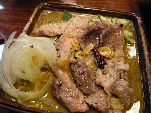 マグロの頬肉のステーキ