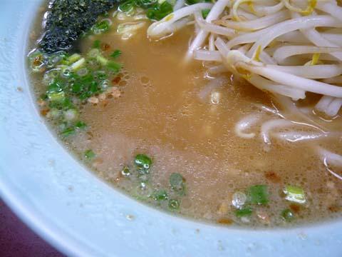 背脂が消えたスープ