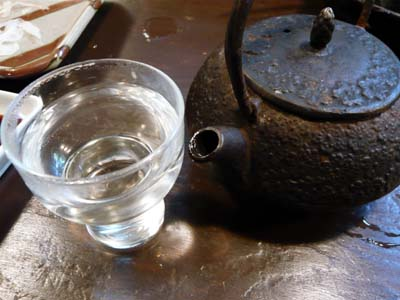 南部鉄瓶で出された日本酒