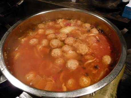 イタリアンな赤い鍋
