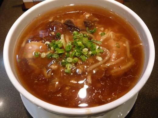 キノコあんかけ湯麺