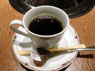食後にはコーヒーも付く