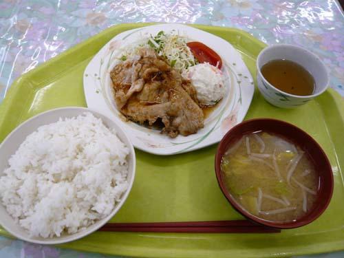 「レパスト」の「豚肉生姜焼き」