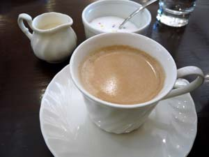 食後のコーヒーも旨い