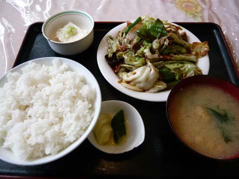 ホイコーロ定食
