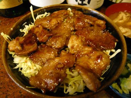 豚生姜焼丼のアップ