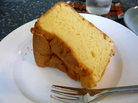 シフォンケーキのアップ