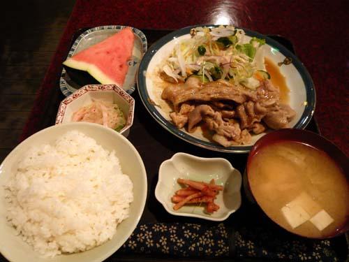 豚生姜焼ランチ