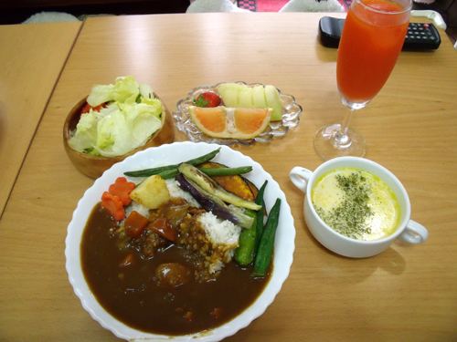 野菜の素揚げカレーのセット