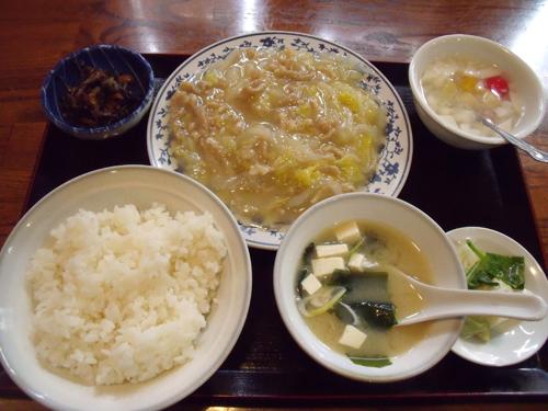 豚肉と白菜の炒め定食