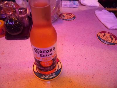 コロナビールで乾杯したらしい