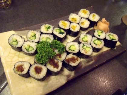 〆に出て来た巻き寿司
