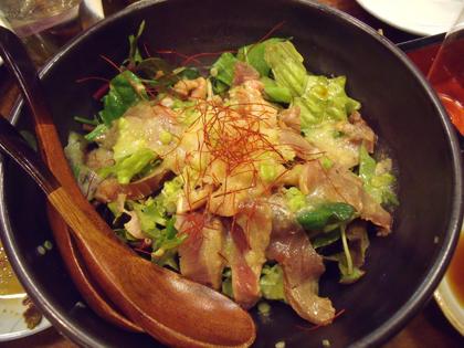 鮪タタキ風サラダ