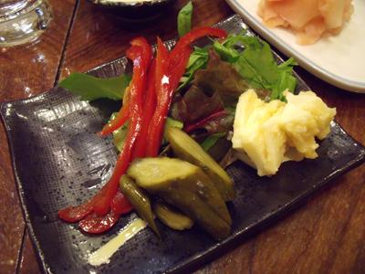 自家製ピクルスとチーズの西京漬