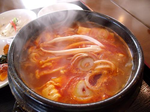 スン豆腐チゲのアップ
