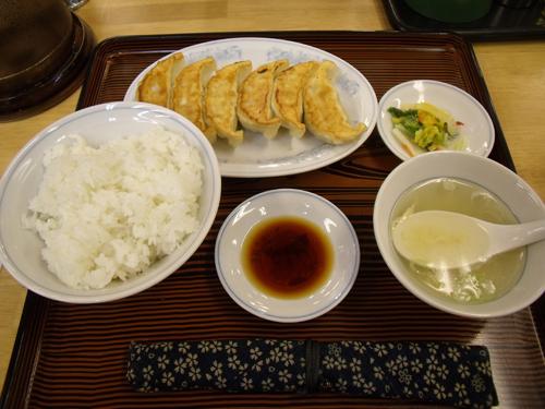 焼餃子とライス