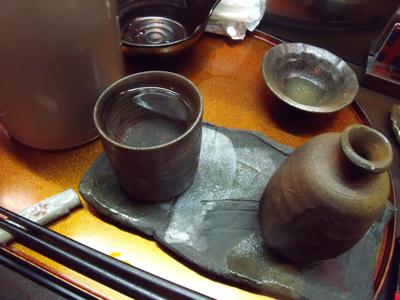 焼酎のお湯割りに変更
