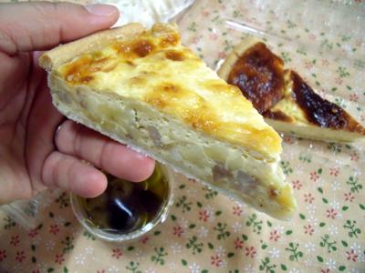 これはベーコンとチーズの入ったキッシュ