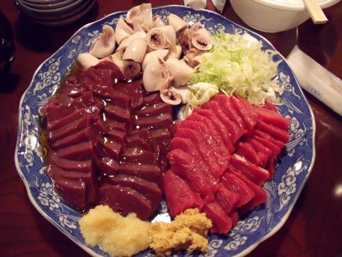 生肉大皿3点盛り