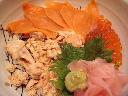 海鮮親子丼のアップ
