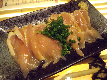 薩摩地鶏のタタキ