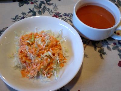いつものサラダとスープ