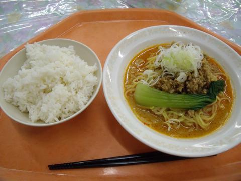 「冷やし担々麺」とライス