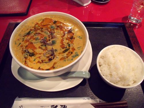 「四川担々麺」と「白ごはん」