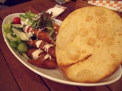 トルティーヤ・魚フライサラダ